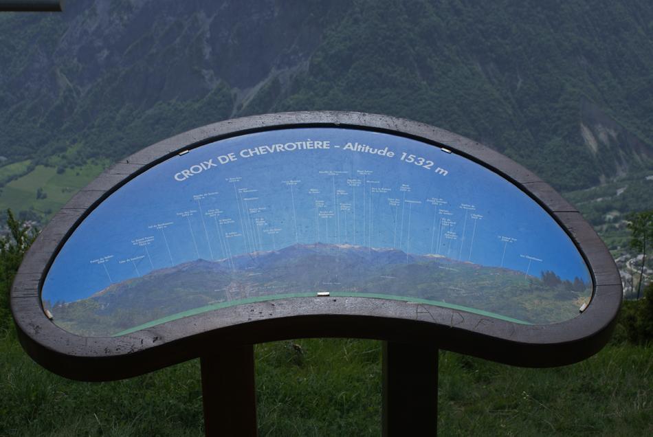 Panorama depuis la Croix de Chevrotière (1532m)