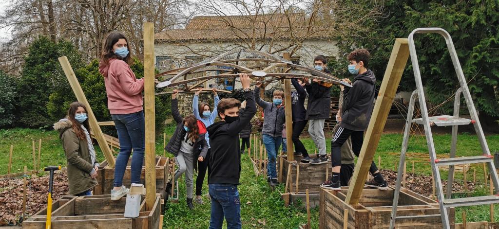jardin potager circulaire