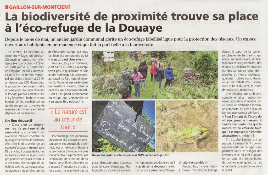 Biodiversité au coeur du village