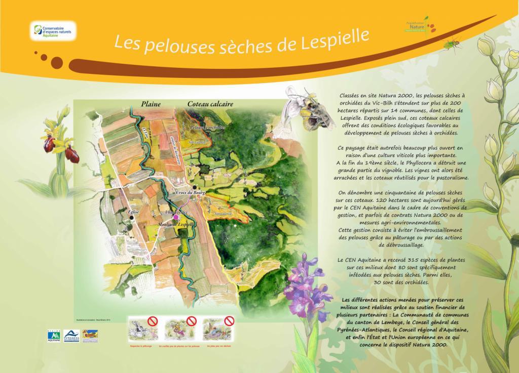 mosaïque d'habitats du coteau de Lembeye