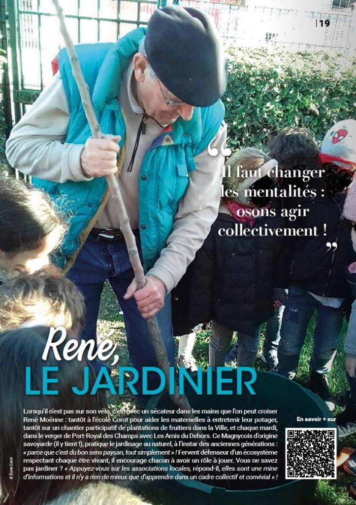 René Moënne, le jardinier de Magny en Transition • Article Magny Mag' N° 227 • Septembre 2020