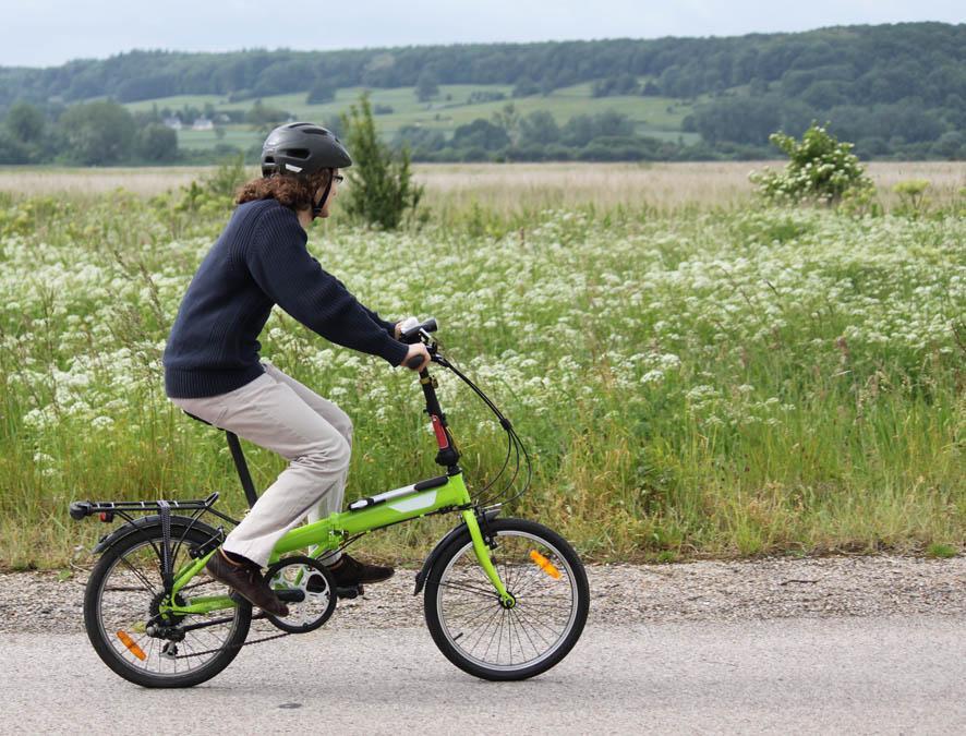 Balade à vélo dans la réserve naturelle de l'estuaire de la Seine